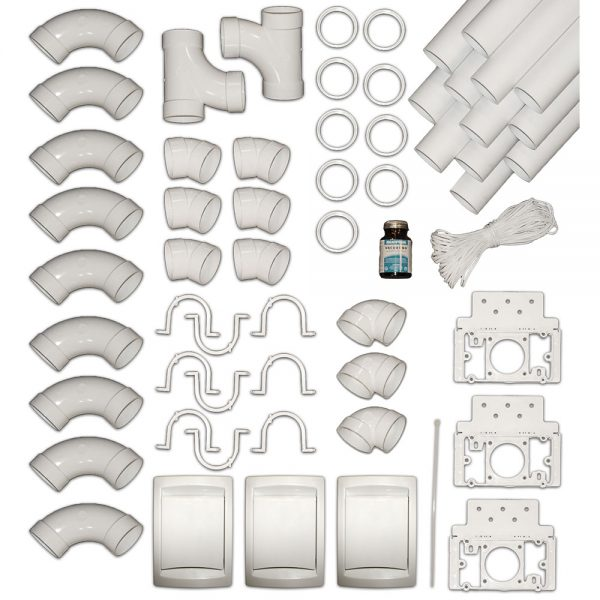 3 Inlet Installation Kit with PVC pipes
