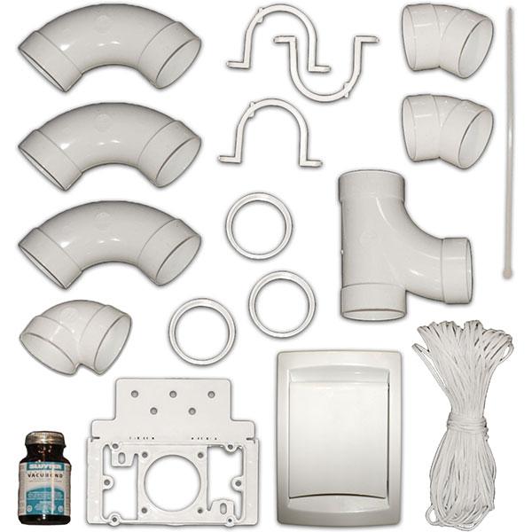 kit d 39 installation duovac pour 1 prise d 39 aspiration duovac. Black Bedroom Furniture Sets. Home Design Ideas